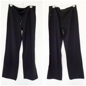 Lululemon wide leg black yoga gym tall pants
